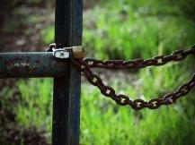 Rare locked gate in rural KS