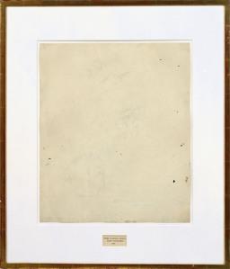 Robert Rauschenberg, Erased de Kooning Drawing, 1953. Via sfmoma.org.